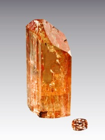 Imperial topaz brazil raw cut