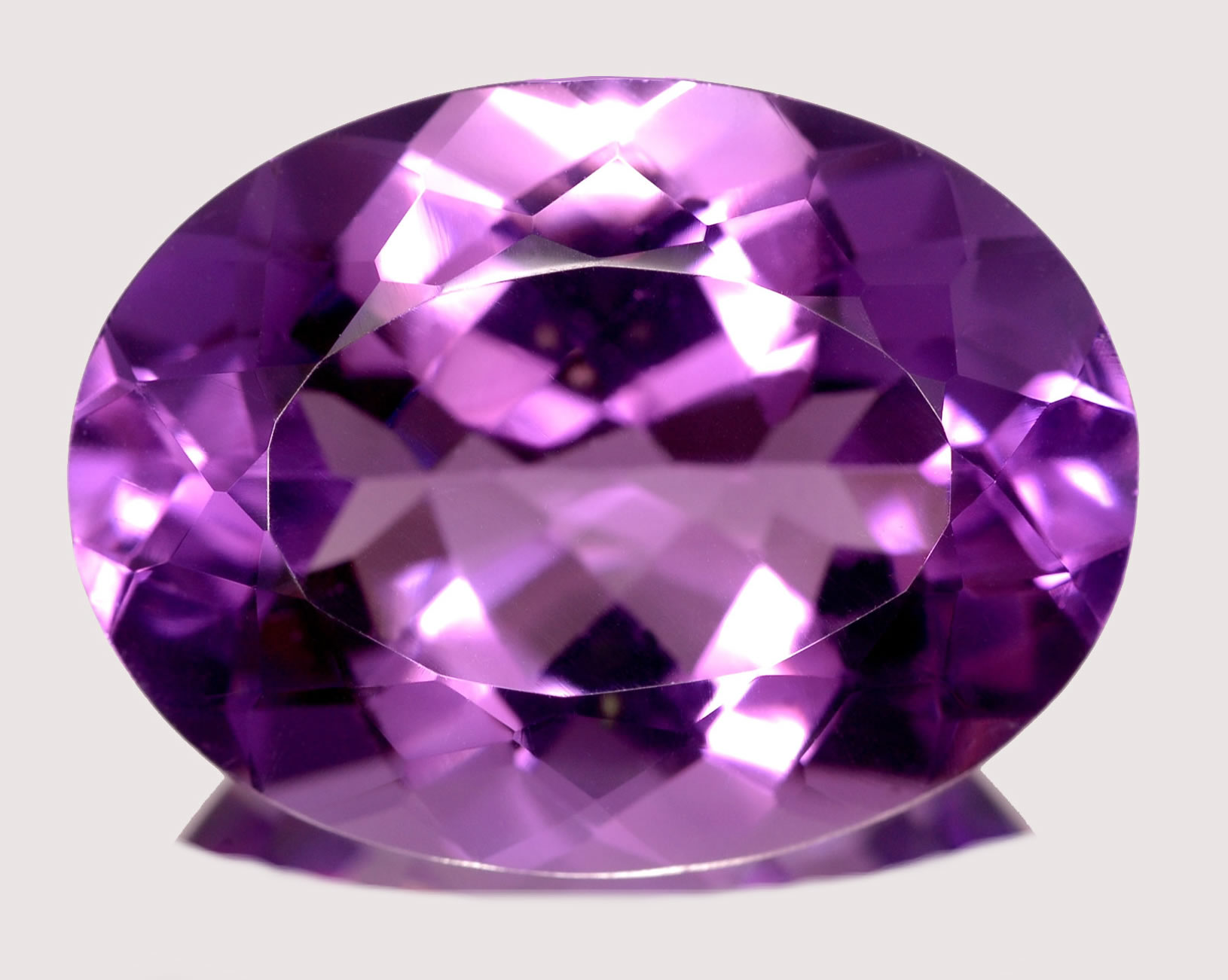natural cut oval amethyst itm gemstone purple ebay ct color