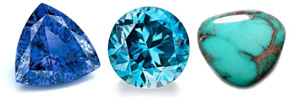 tanzanite blue zircon turquoise december birthstone