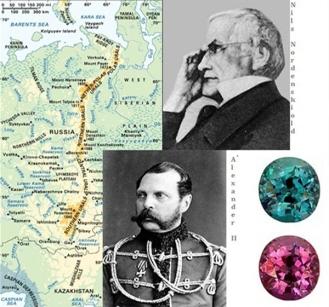 Alexandrite Russia Czar Alexander Ural Mountains