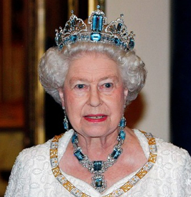 Aquamarine queen elizabeth