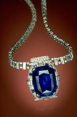 Countess Mona Von Bismarck sapphire