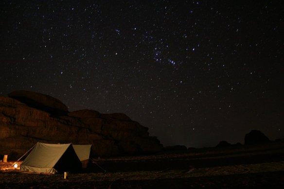 desert night camping