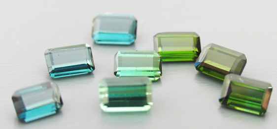 Tourmaline blue green
