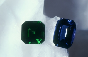 tsavorite and tanzanite together