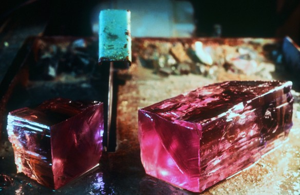 Edited Kunzite Sawing photo